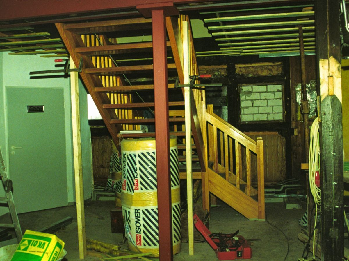 Untergeschoss des Informationszentrum Seehund im Bau
