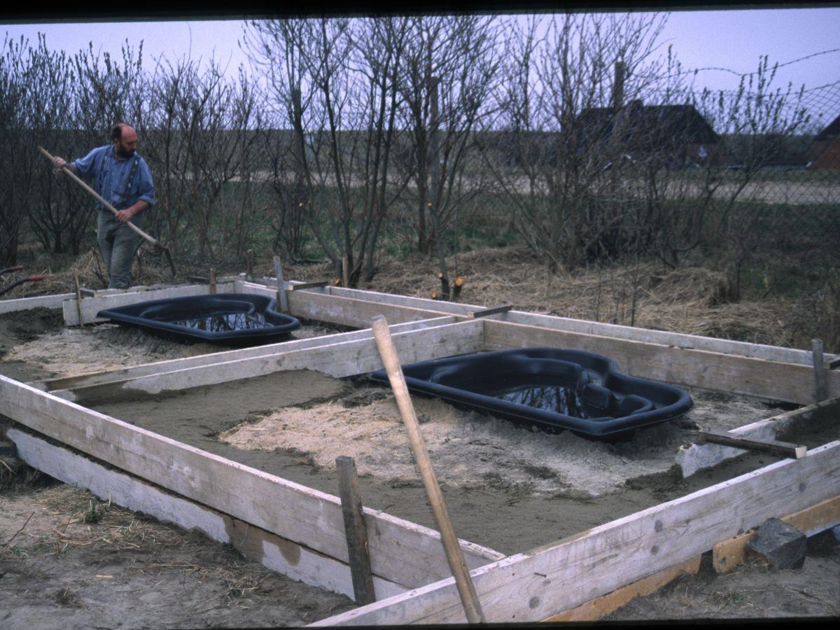 Bau der neuen Quarantänebecken