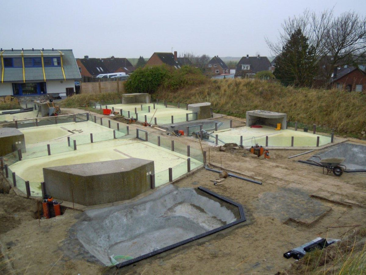 Im Aufzuchtbereich werden vier neue Becken gebaut